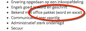 Re-integratie cursuss MS Office