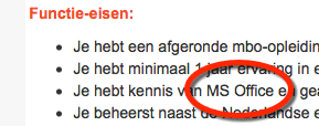 re-integratie cursussen MS Office